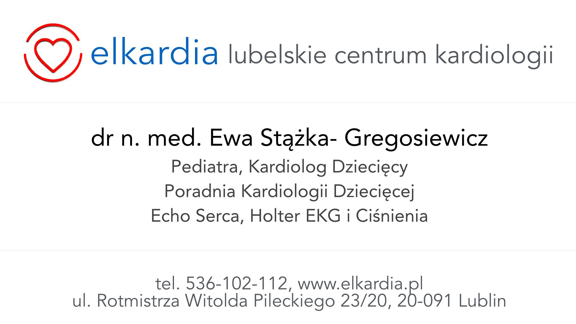 Dr Ewa Stążka-Gregosiewicz| Kardiolog Dziecięcy w Lublinie|