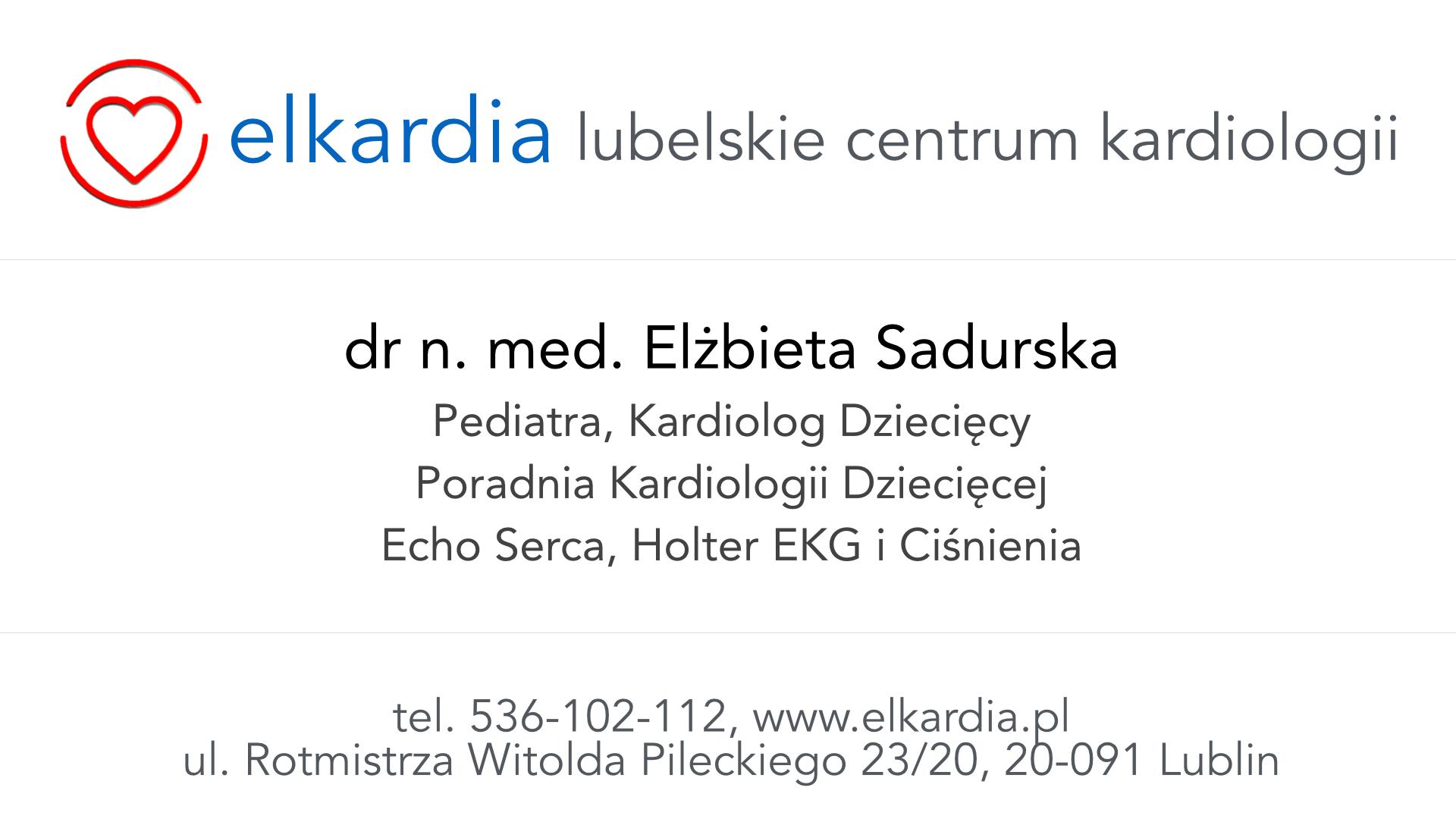 Dr Elżbieta Sadurska | Kardiolog Dziecięcy w Lublinie|